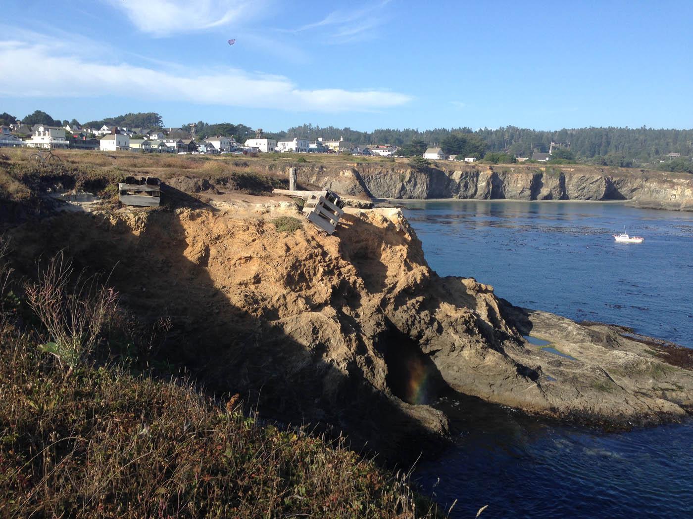 Mendocino bay chute remnantsS