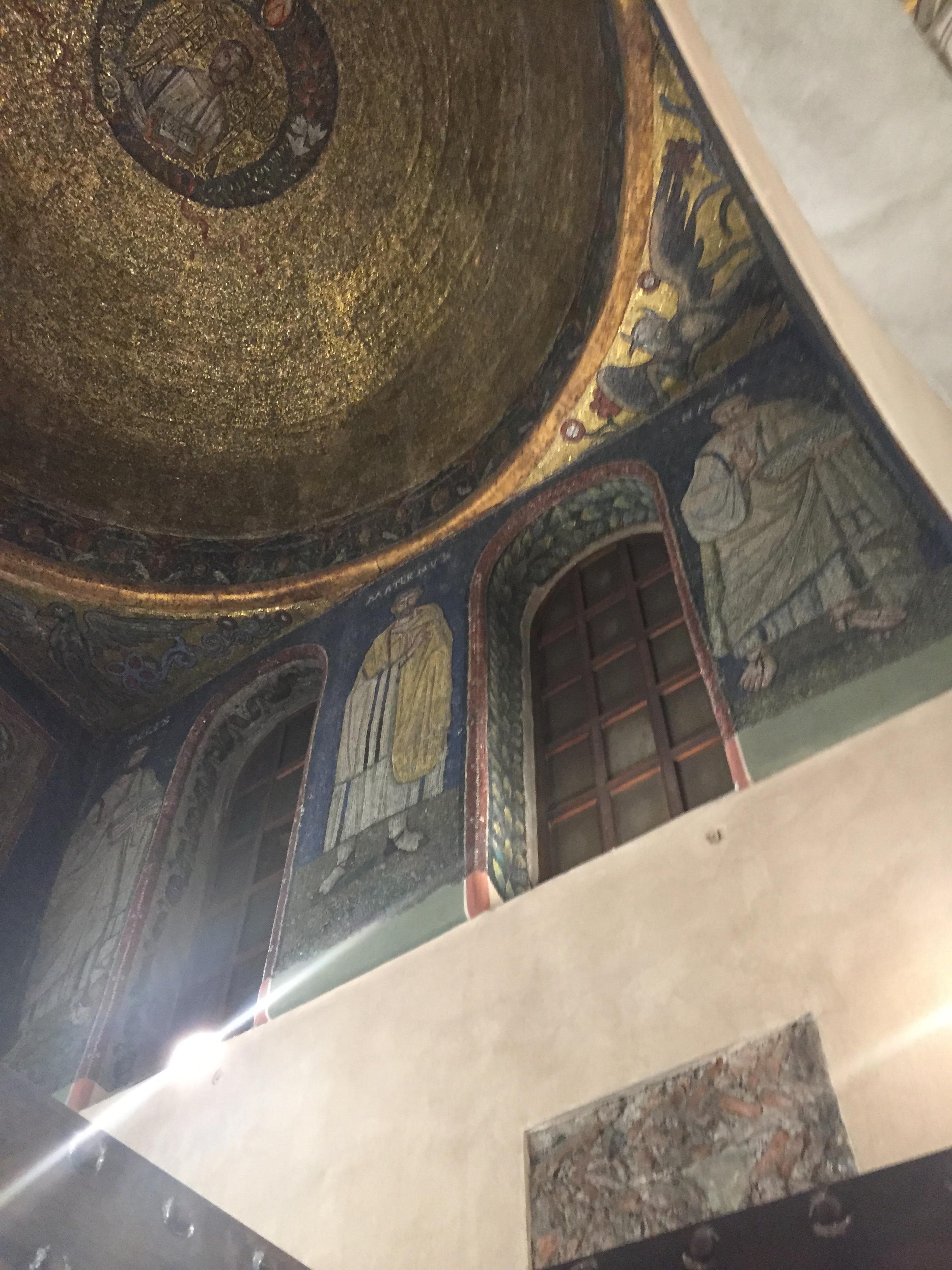 S. Ambrogio dome and saints