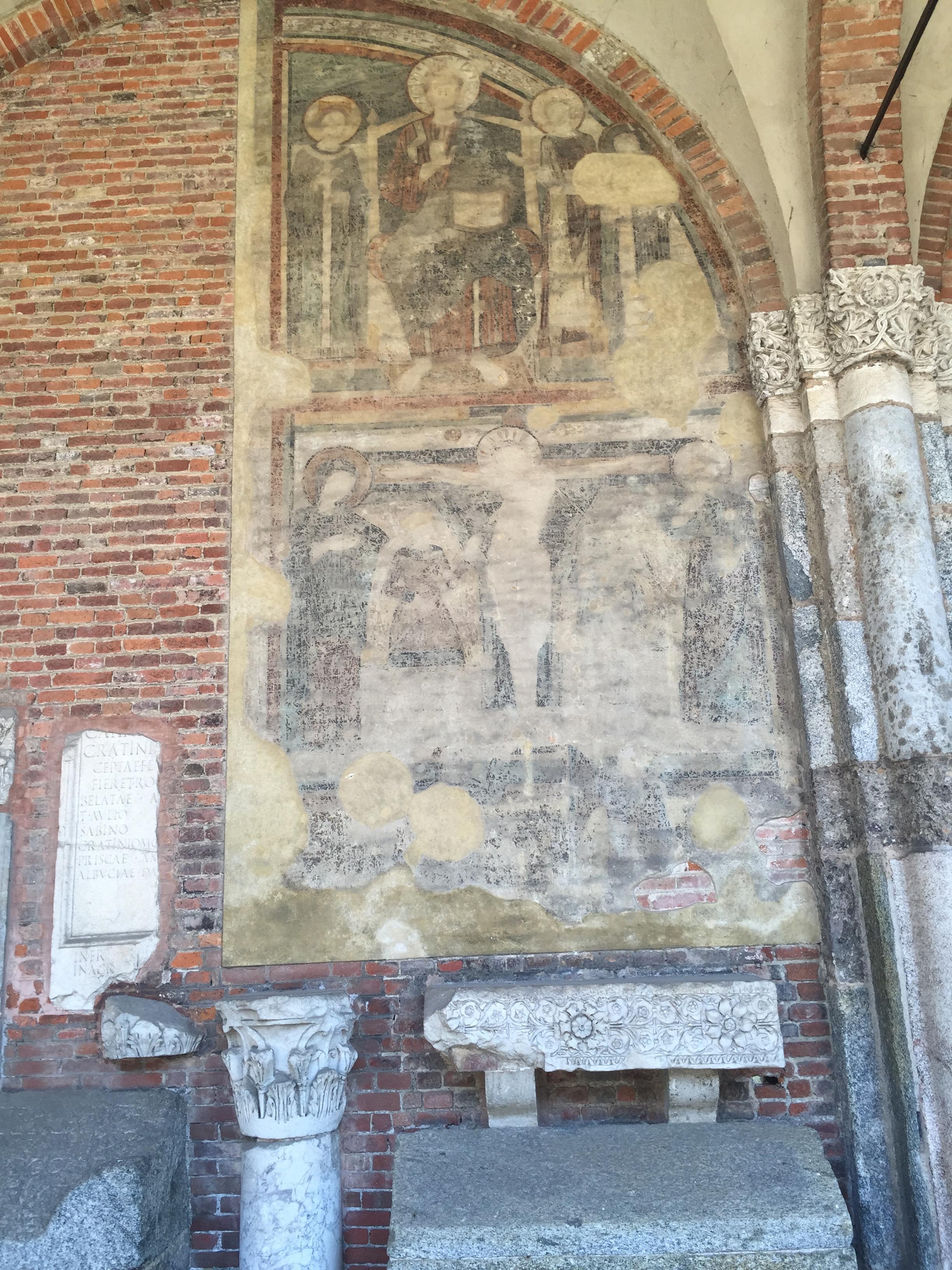 S. Ambrogio fresco n fragments