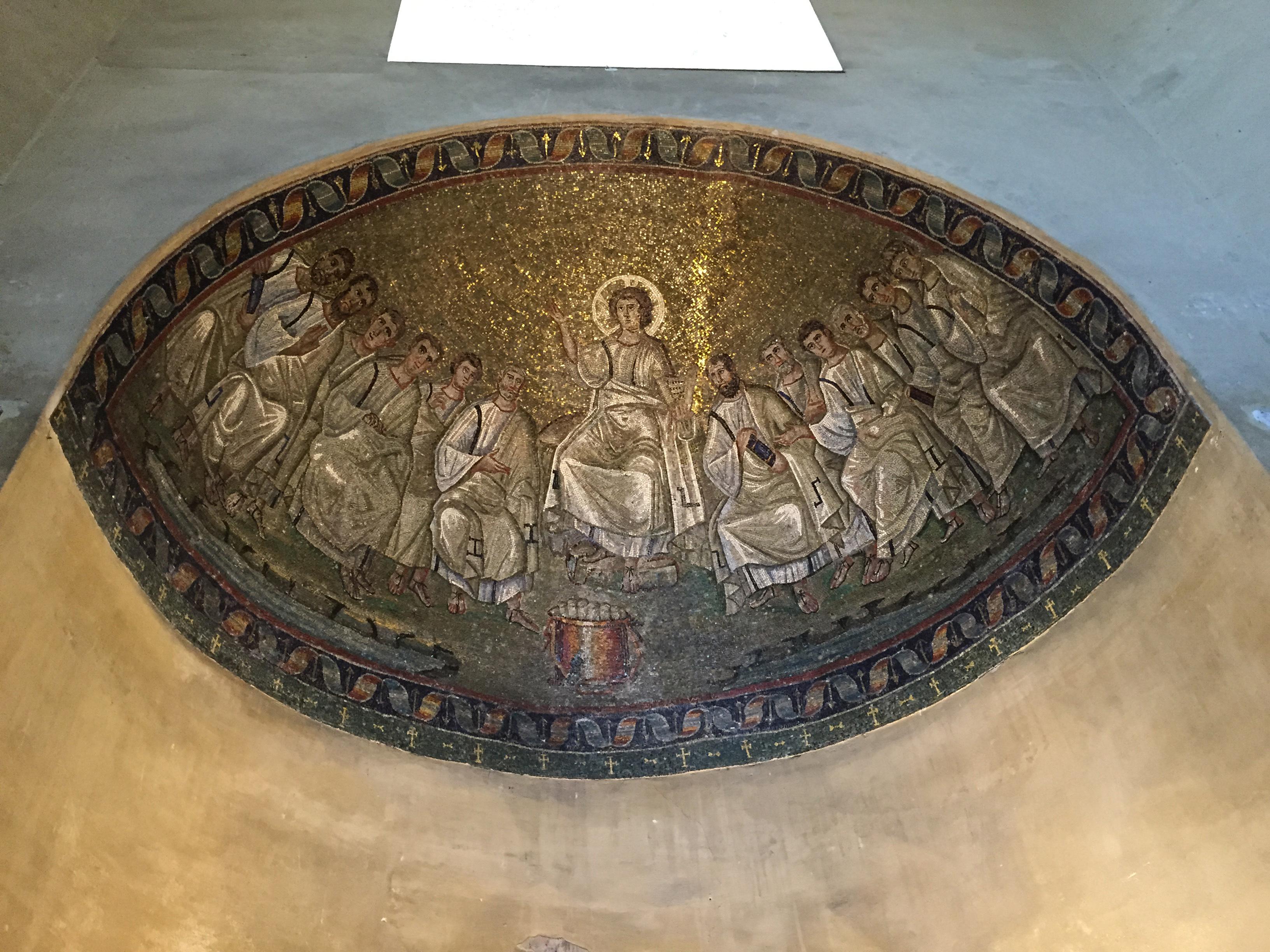 S. Lorenzo Maggiore Christ mosaic2