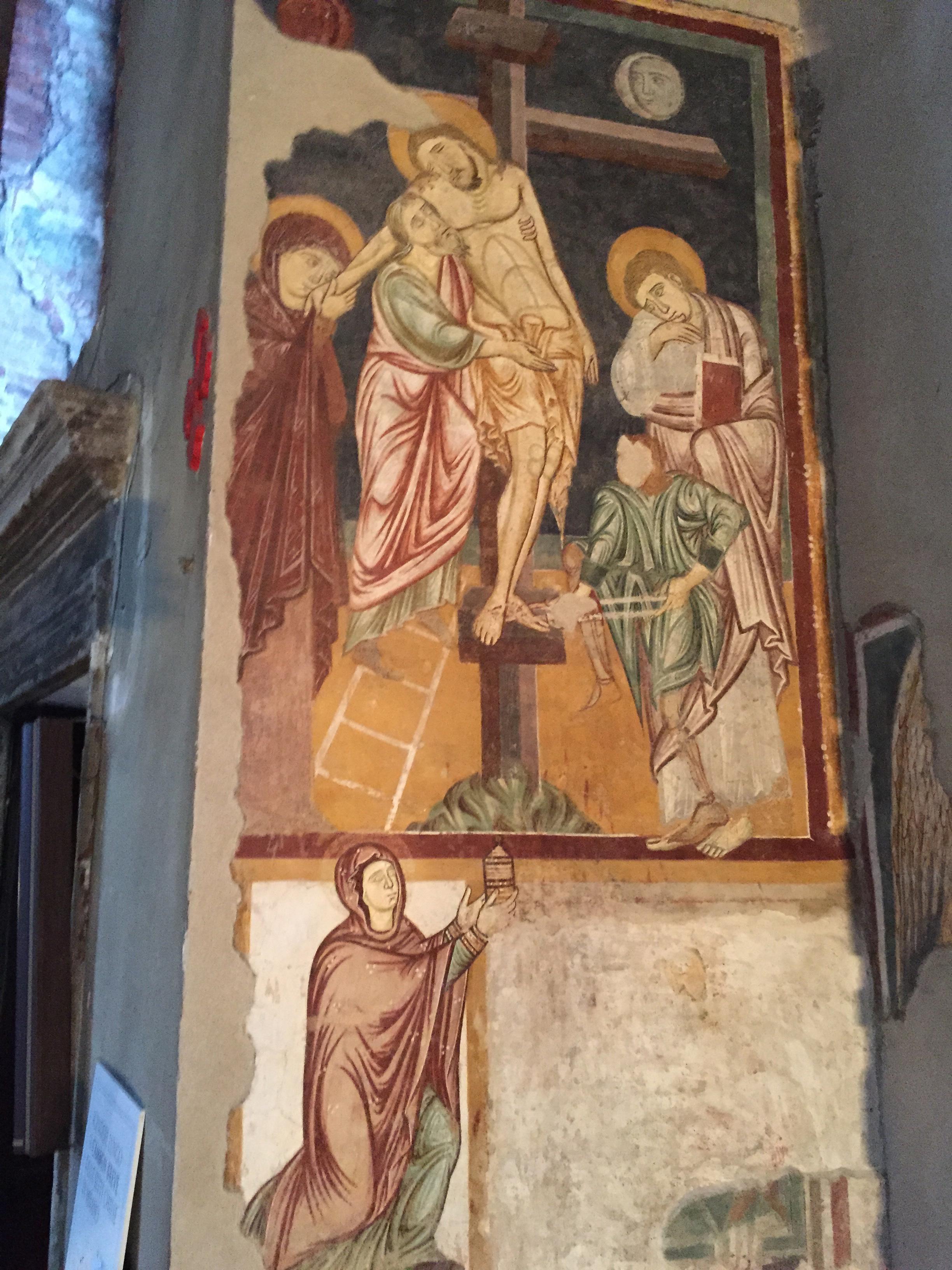 S. Lorenzo Maggiore deposition fresco