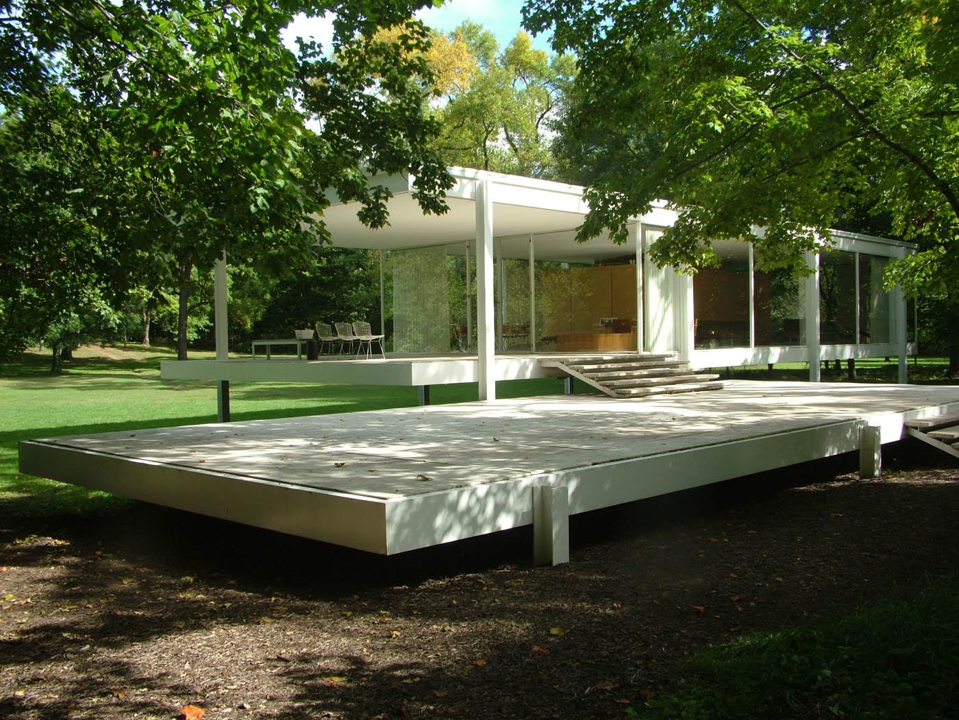 Farnsworth house vince michael for The farnsworth