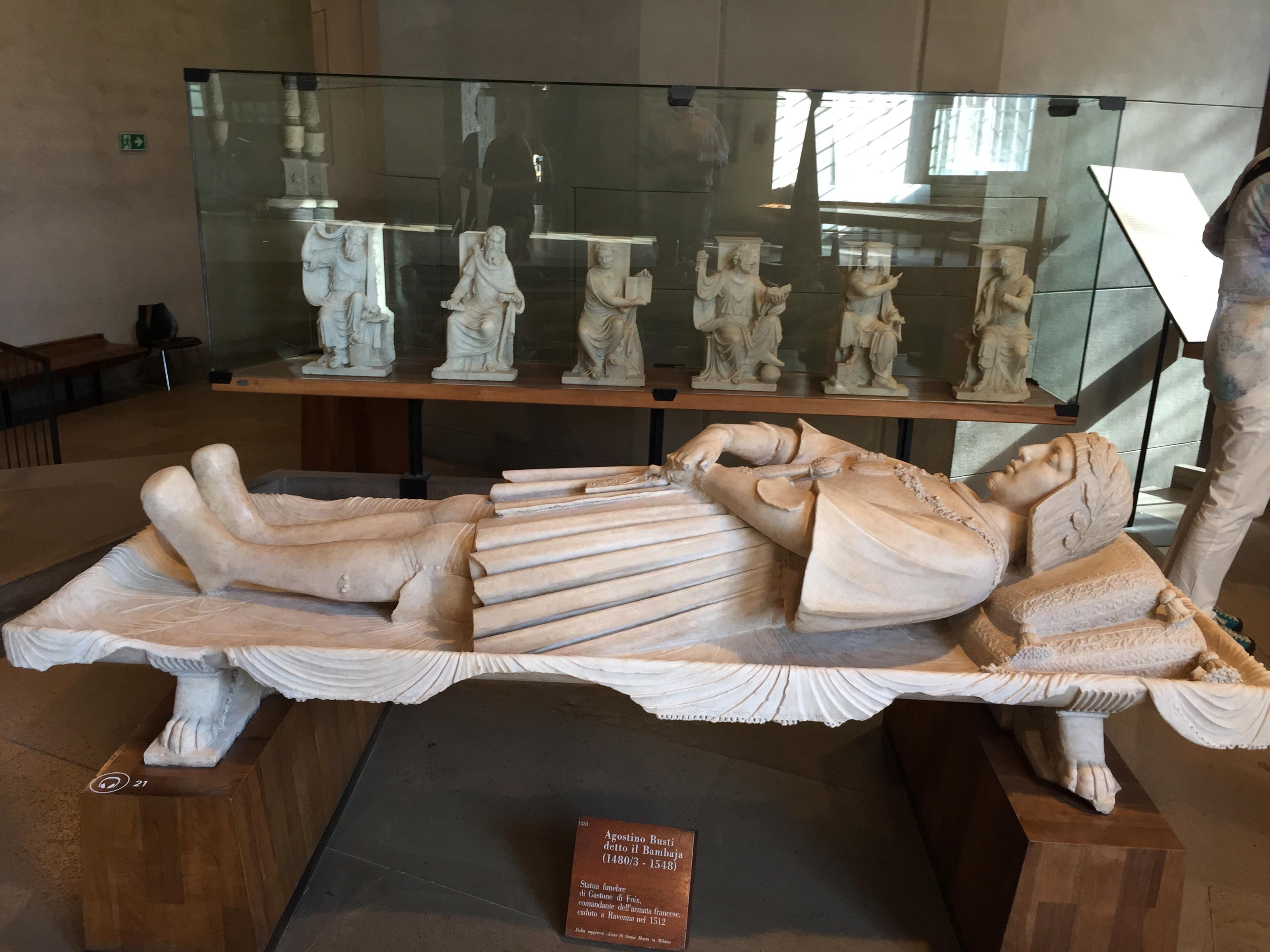 Castello Sforza resting guy