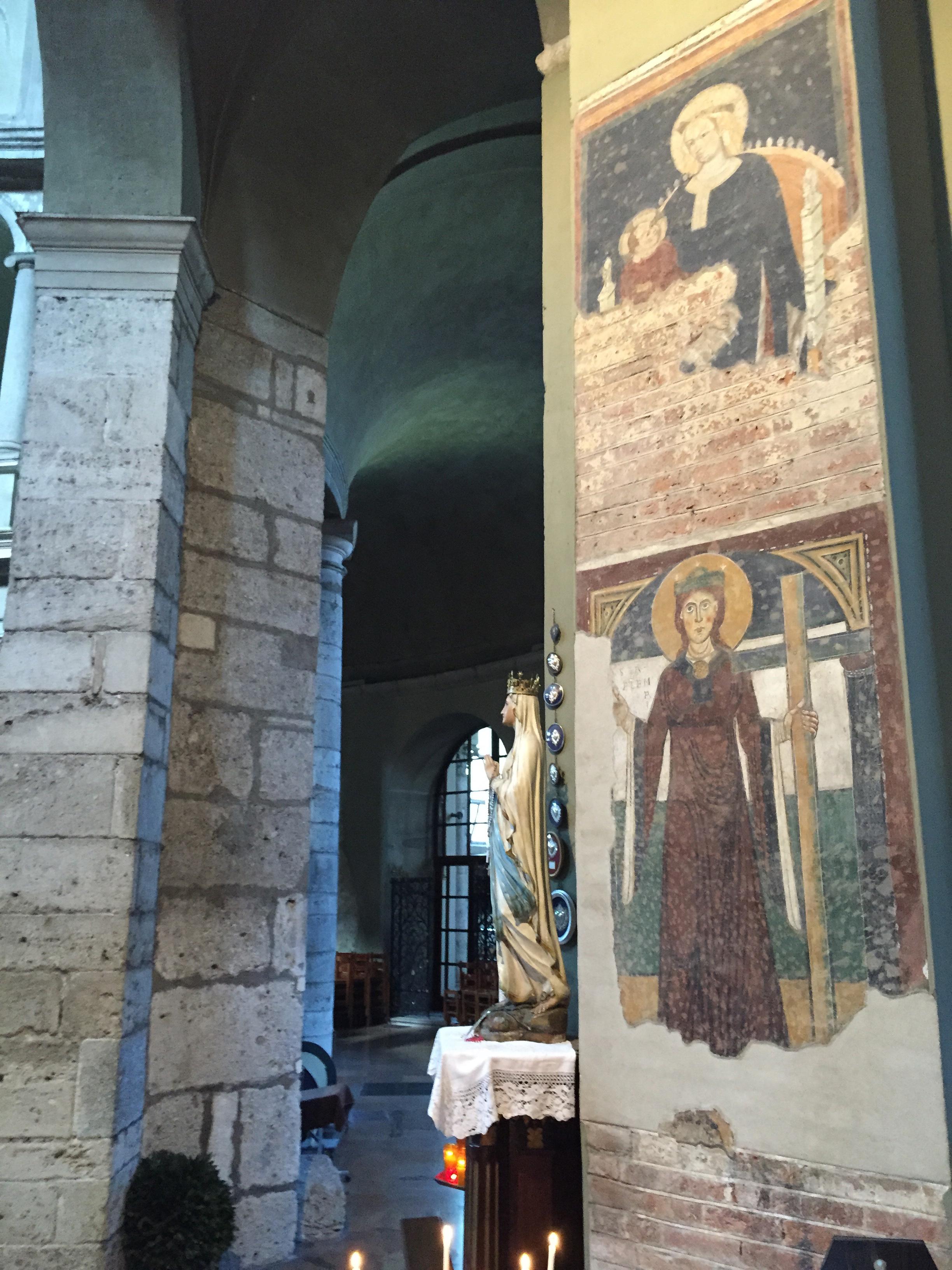 S. Lorenzo Maggiore frescoa