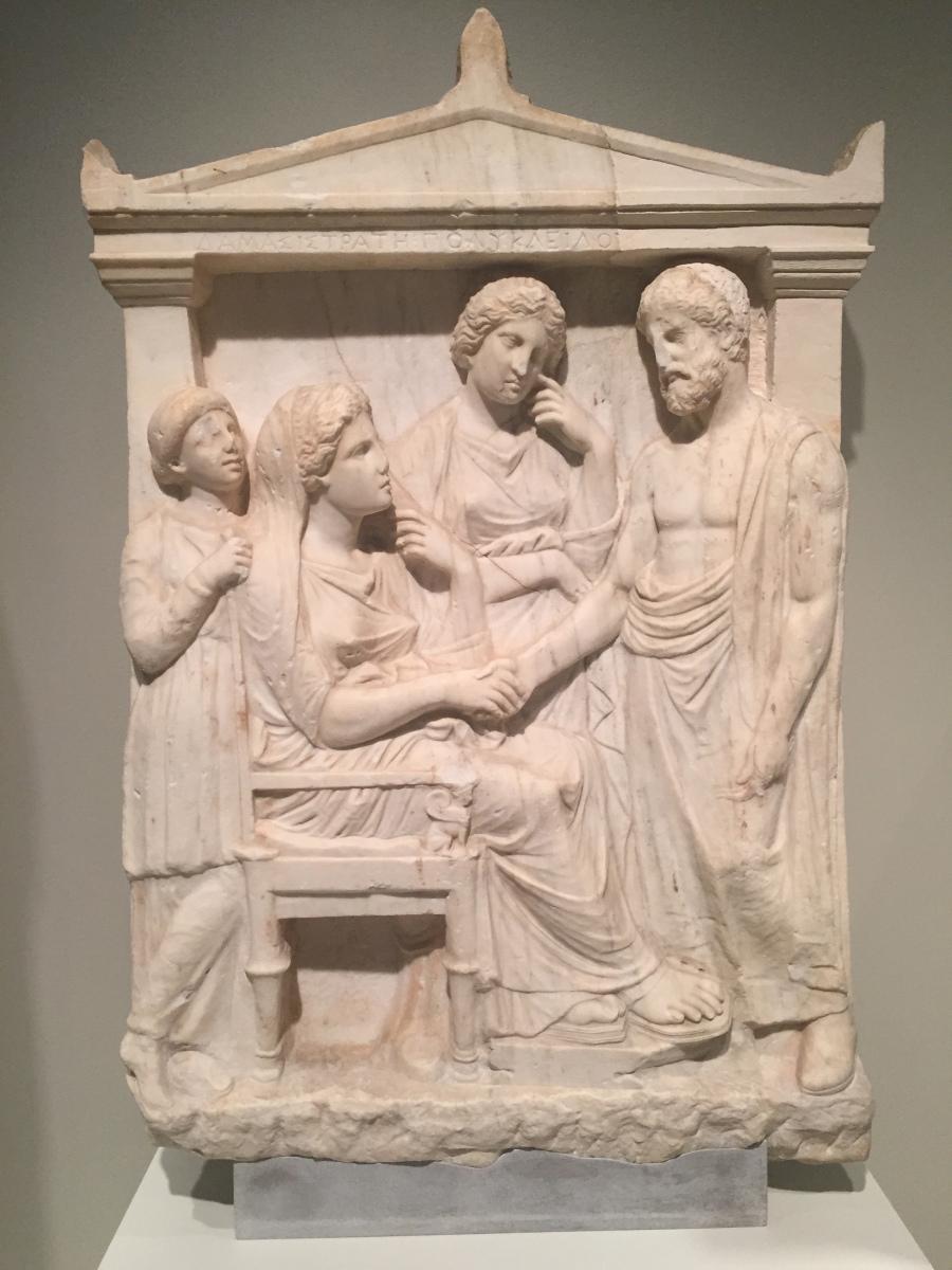 Greek bas relief